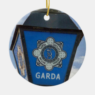 Porcelain Irish Garda Police Christmas Ornament