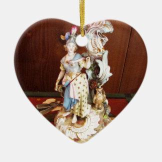 Porcelain Lady Ceramic Heart Decoration