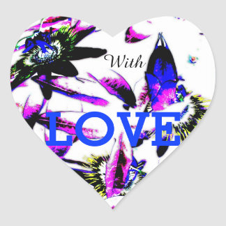 Porcelain Passiflora Flower - Heart Stickers