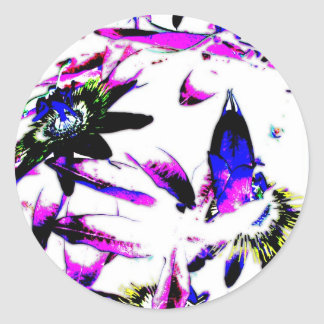 Porcelain Passiflora Flower - Stickers