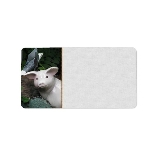 Porcelain Pig Address Label