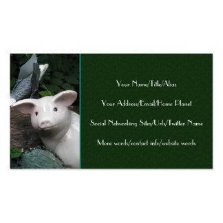 Porcelain Pig Business Cards