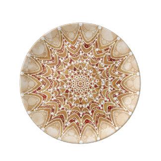 Porcelain plate Lovely Mandala Design