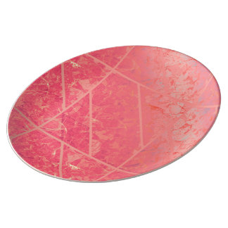 Porcelain Plate Pink Marble Texture