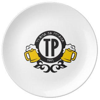 Porcelain plate TP