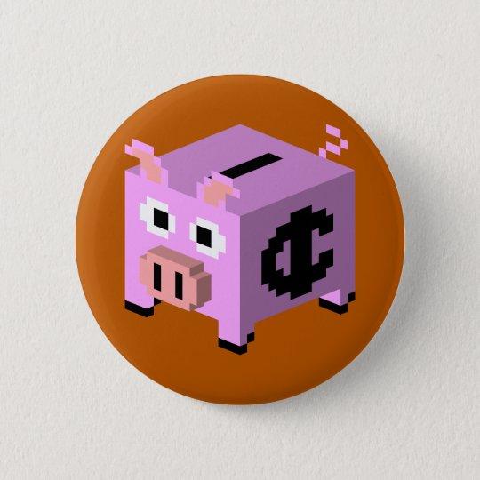 Porcelain Pork 6 Cm Round Badge