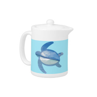 porcelain tea pot, 11oz