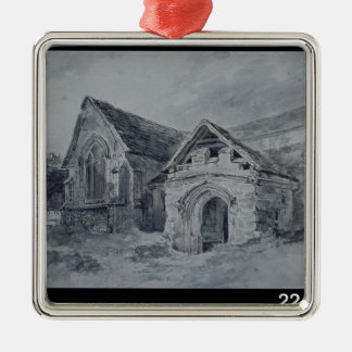 Porch and Transept of a Church, c.1850-11 Christmas Ornament