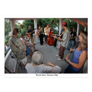 Porch Jam, Carson City Postcard