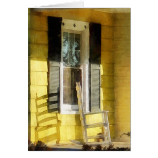Porch - Long Afternoon Shadow of Rocking Chair Card