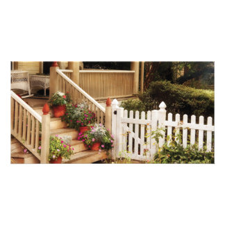 Porch - My Grandmother's Garden Personalized Photo Card