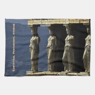 Porch of the Caryatids, Acroplis, Athens Tea Towel