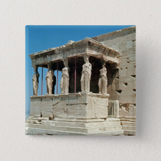 Porch of the Maidens, Erechtheion, c.421-405 BC 15 Cm Square Badge