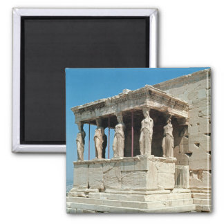 Porch of the Maidens, Erechtheion, c.421-405 BC Square Magnet