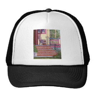 Porch with Basket Mesh Hat