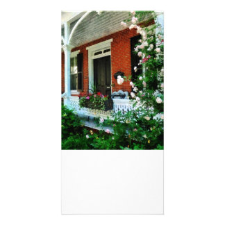 Porch With Climbing Roses Photo Card Template
