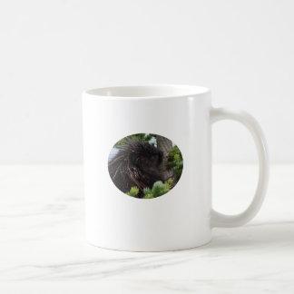 porcupine basic white mug