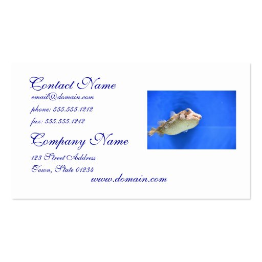 Porcupinefish Business Card
