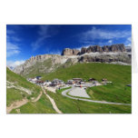 Pordoi pass and mountain greeting card