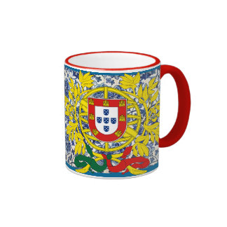 Porgtuguese Azulejo* Mug with Portuguese Crest