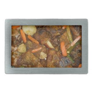 pork carrots potatoes oven baked food design belt buckle