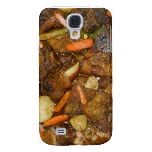 pork carrots potatoes oven baked food design galaxy s4 cover