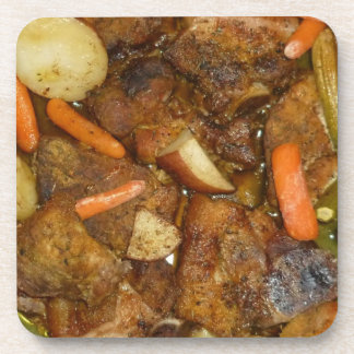 pork carrots potatoes oven baked food design coasters