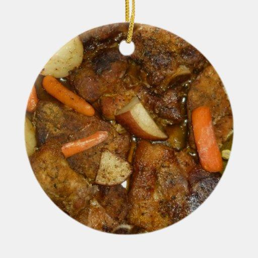 pork carrots potatoes oven baked food design ornaments
