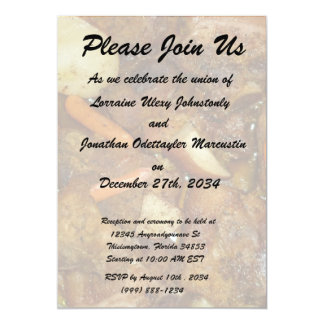 pork carrots potatoes oven baked food design personalized invites