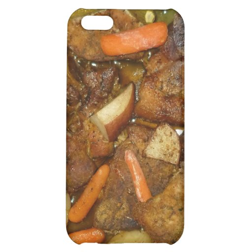 pork carrots potatoes oven baked food design iPhone 5C cover