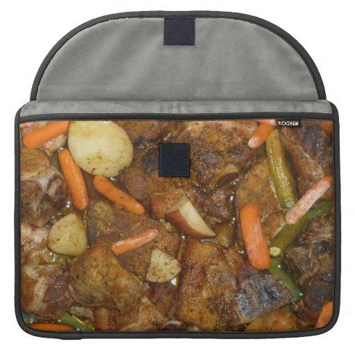 pork carrots potatoes oven baked food design MacBook pro sleeve