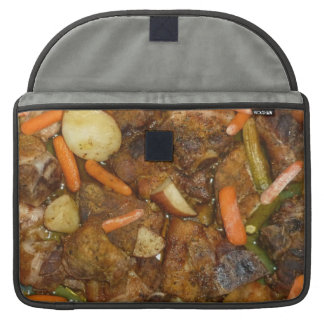 pork carrots potatoes oven baked food design sleeve for MacBooks