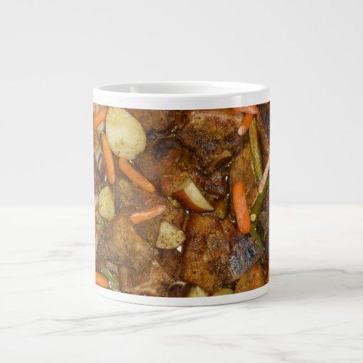 pork carrots potatoes oven baked food design extra large mug