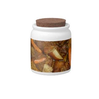 pork carrots potatoes oven baked food design candy jar