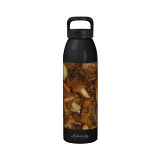 pork carrots potatoes oven baked food design reusable water bottle