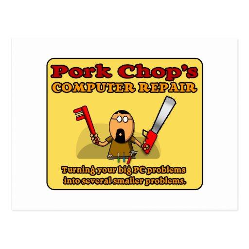 Pork Chop's PC Repair Postcards
