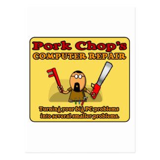 Pork Chop's PC Repair Postcard