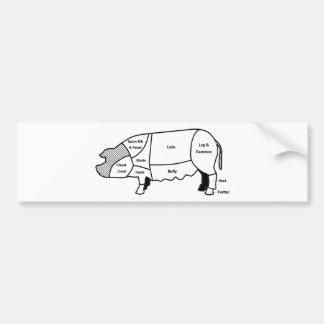 Pork Diagram Bumper Sticker