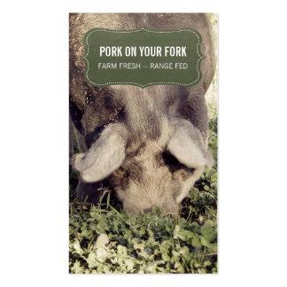 Pork Producer Range Hog or Pig Pack Of Standard Business Cards