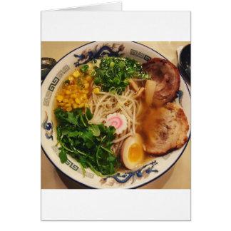 Pork Ramen Noodles Greeting Card