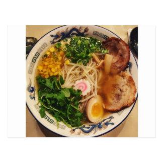 Pork Ramen Noodles Postcard