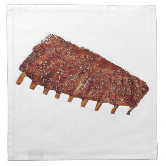 """""""Pork Ribs"""" design cloth napkins"""