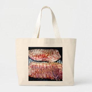 Pork Spare Ribs on the Grill Canvas Bag
