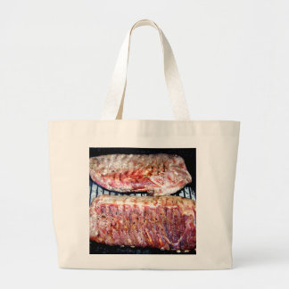 Pork Spare Ribs on the Grill Jumbo Tote Bag