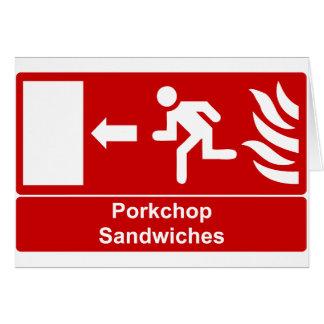 Porkchop Sandwiches Greeting Card