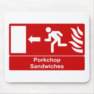 Porkchop Sandwiches Mouse Pads