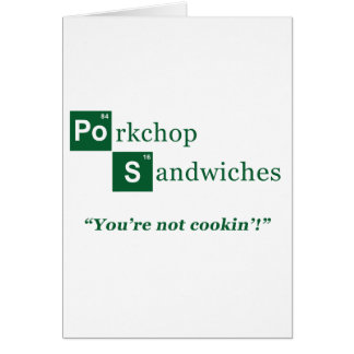 Porkchop Sandwiches Parody Logo Greeting Card