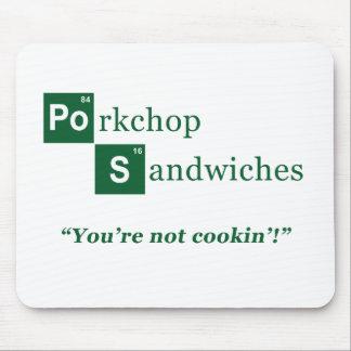 Porkchop Sandwiches Parody Logo Mouse Pads