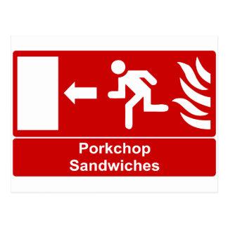 Porkchop Sandwiches Postcard
