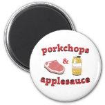 porkchops & applesauce fridge magnets